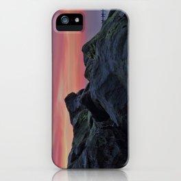 Happisburgh sea defences at sunset iPhone Case