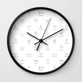 Eat Your Veggies Wall Clock