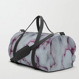White with Maroon Marbling Duffle Bag