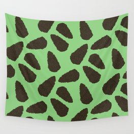 Tree Patterns: Bright Green Pinecones Wall Tapestry