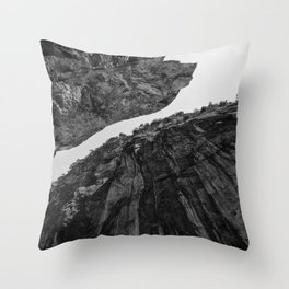 up from abyss Throw Pillow