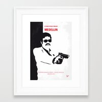 entourage Framed Art Prints featuring No526 My MEDELLIN minimal movie poster by Chungkong
