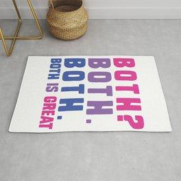 Both is great - bisexual flag Rug