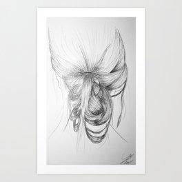 Hair one Art Print