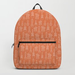 Cacti in pots terracotta pattern Backpack