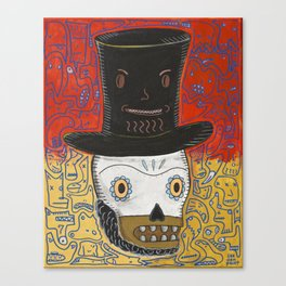 The spontaneously monsterfied account of the Lincoln Calavera and the hat he should have never worn. Canvas Print