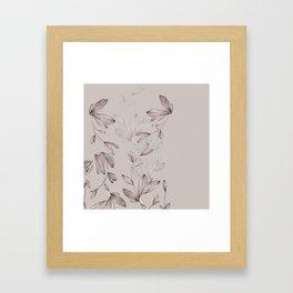 Botani Line IV Framed Art Print