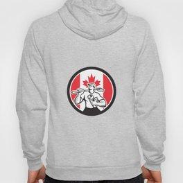 Canadian Drainlayer Canada Flag Icon Hoody