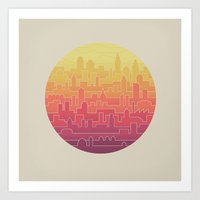 skyline Art Prints featuring Skyline by Rick Crane