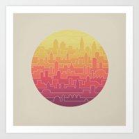 skyline Art Prints featuring Skyline by Rick Crane