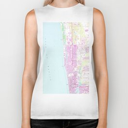 Vintage Map of Naples Florida (1958) Biker Tank