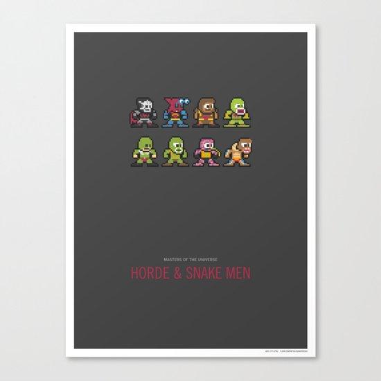 Mega MotU: Horde & Snake Men Canvas Print
