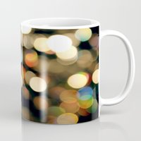 the lights Mugs featuring Lights by Janelle