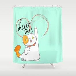 exotic short kitty Shower Curtain