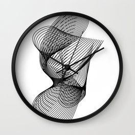 """""""Script Collection"""" - Minimal Letter G Print Wall Clock"""