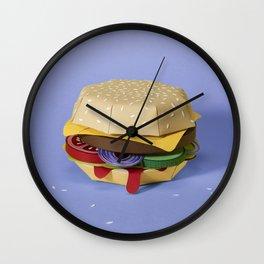 PAPER BURGER Wall Clock
