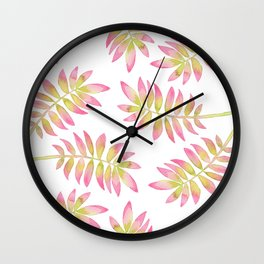 Tropical Palm Leaf 03 Wall Clock