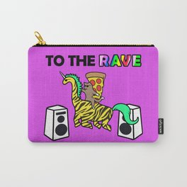 To The Rave (Cat & Pizza Riding Tiger Dinocorn) Carry-All Pouch