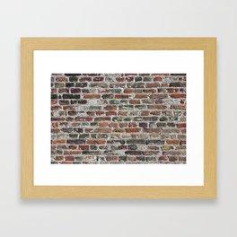Colorful Bricks Background Framed Art Print