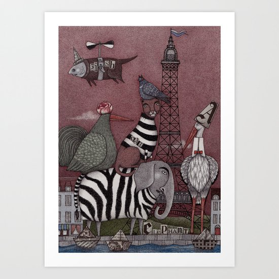 Animal Convention Art Print