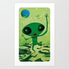 greeny boy Art Print