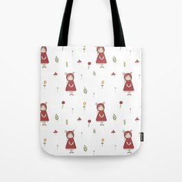 Little Red Riding Hood Girl with Antlers Tote Bag