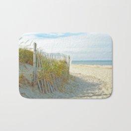 Sandy Beach, Ocean, and Dunes Bath Mat