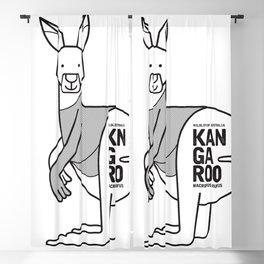 Kangaroo, Wildlife of Australia Blackout Curtain