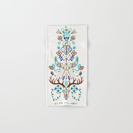 La Vie & La Mort – Turquoise and Brown Hand & Bath Towel