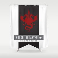 targaryen Shower Curtains featuring House Targaryen Sigil by P3RF3KT