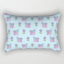 Purple Angel Cat Rectangular Pillow