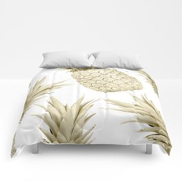 Gold Pineapple Party Comforters