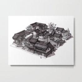 Japan - Edo Period Model City Concept 02 Metal Print