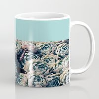 succulents Mugs featuring Succulents by Leah Flores