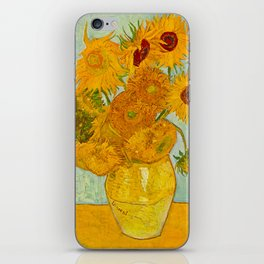 Sunflowers Oil Painting By Vincent van Gogh iPhone Skin