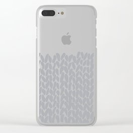 Half Knit Grey Clear iPhone Case