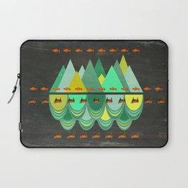 fishes which wanted to hike while cows wanted to swim Laptop Sleeve