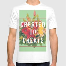 Created to Create Mens Fitted Tee LARGE White