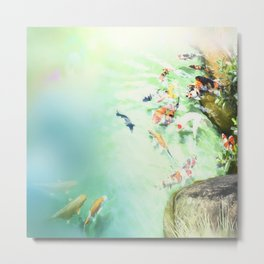 Fish watercolor Metal Print