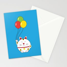 Fat Cat with Balloons Stationery Cards