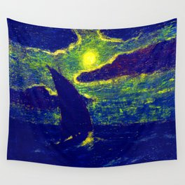 Albert Pinkham Ryder Sailing by Moonlight Wall Tapestry