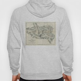 Vintage Map of Mount Everest (1921) Hoody