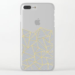 Ab Outline Gold and Grey Clear iPhone Case