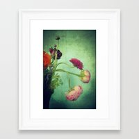 blur Framed Art Prints featuring Blur  by KunstFabrik_StaticMovement Manu Jobst