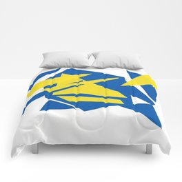 Abstract blue one Comforters