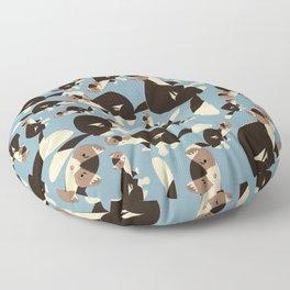 Piebald Sable Marten Floor Pillow