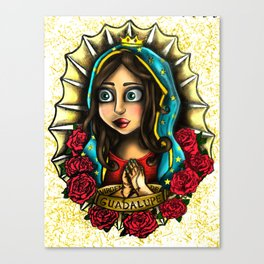 Lady Of Guadalupe (Virgen de Guadalupe) WHITE VERSION Canvas Print