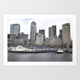 Central Waterfront Seattle Art Print