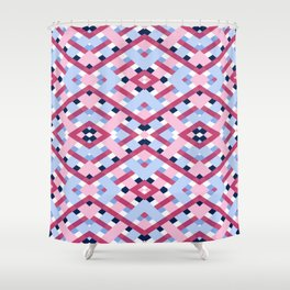 DEEP GEOMETRIC SHAPES Shower Curtain
