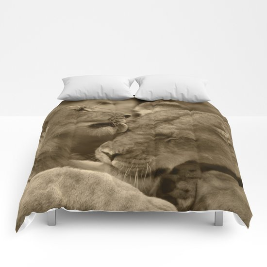 Mother and son II Comforters